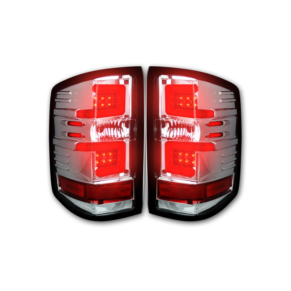 Chevy Silverado 1500 16-18 & 2500/3500 16-19 (Replaces OEM LED) Tail Lights OLED in Clear