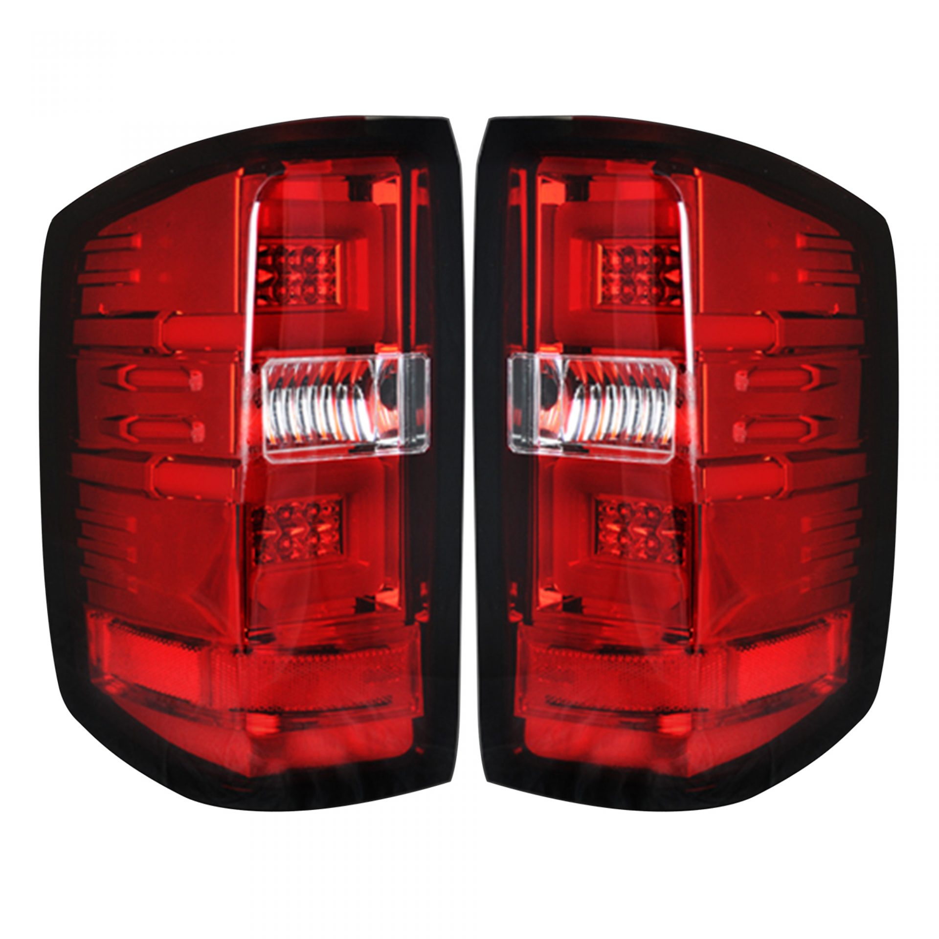 Led Brake Lights >> Recon 264297rd Chevy Silverado 16 18 1500 16 19 2500 3500 Replaces Factory Oem Led Tail Lights Only Also Fits Gmc Sierra 15 19 Dually Body Style