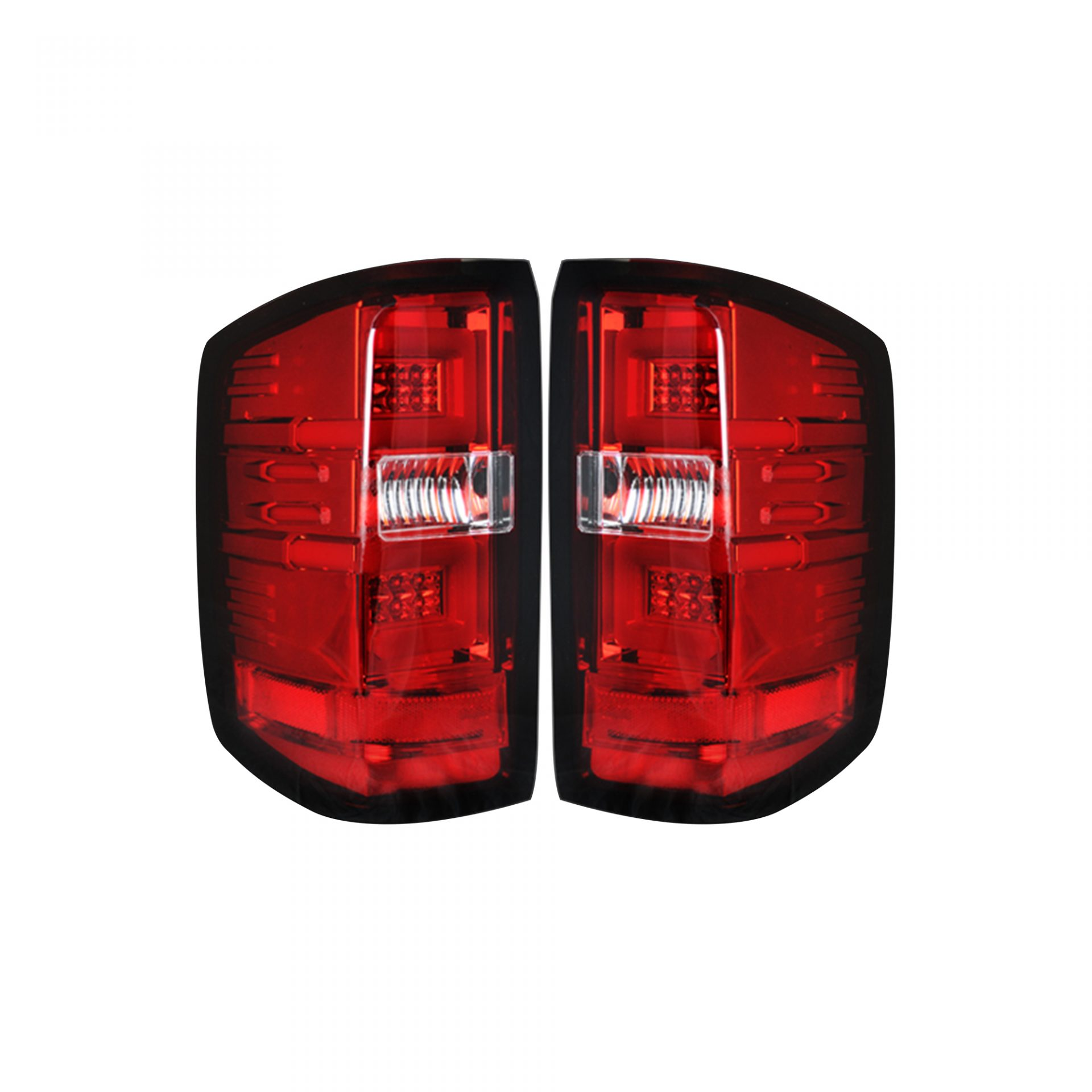 RECON 264238RD Chevy Silverado 14-18 1500 & 14-19 2500/3500 (Replaces  Factory OEM Halogen Tail Lights ONLY - Also Fits GMC Sierra 15-19 Dually  Body