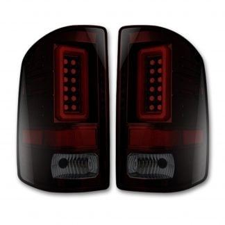 GMC Sierra 1500 14-18 & 2500/3500 14-19 Tail Lights OLED in Dark Red Smoked