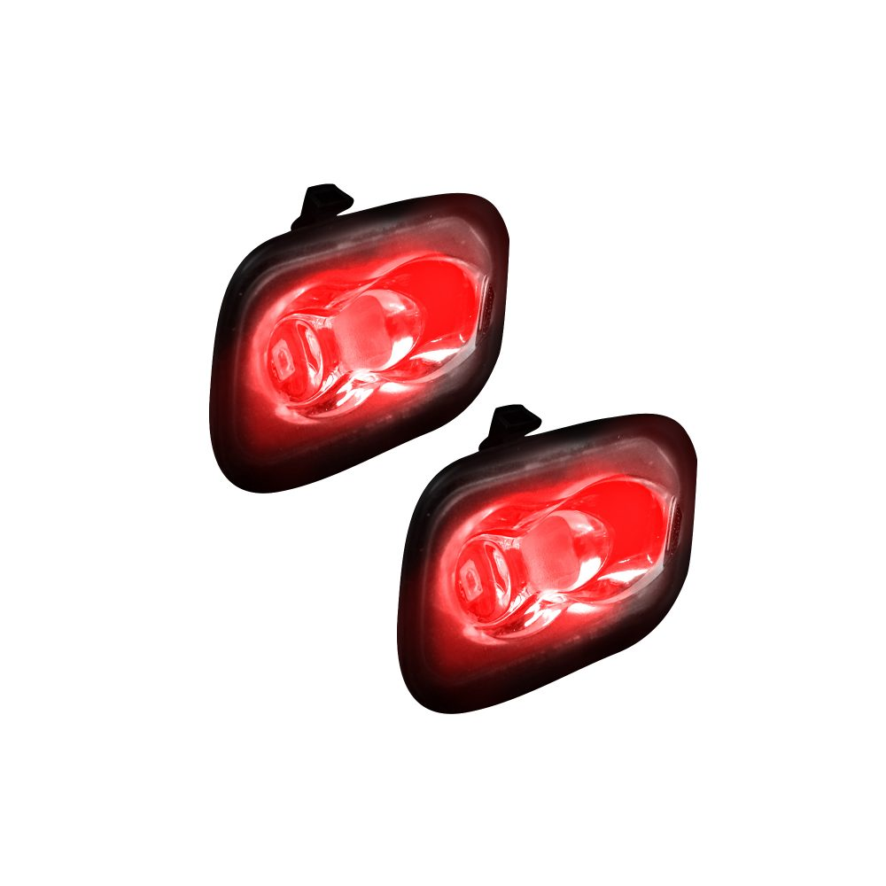 Ford 15-17 F150 & 17-19 RAPTOR & 17-19 SUPERDUTY Ultra High Power LED Mirror / Puddle Light Kit - RED