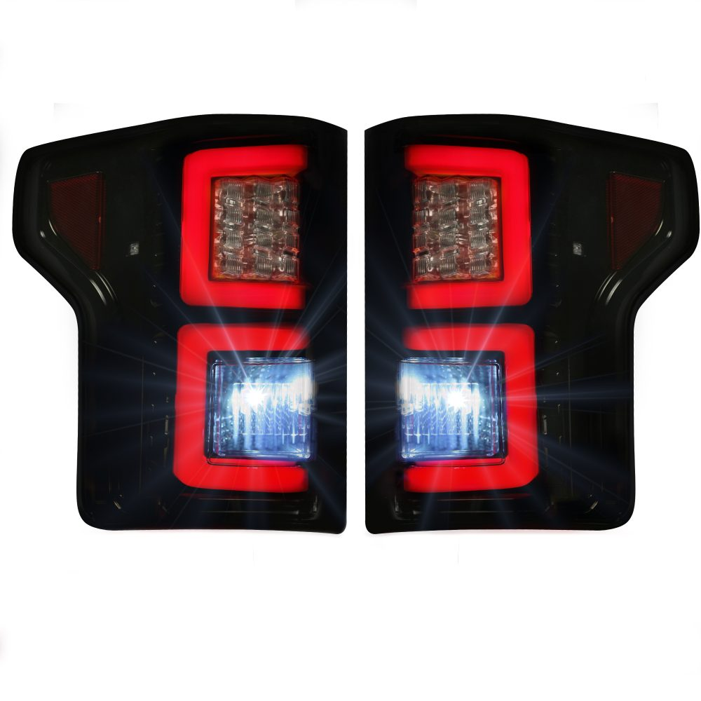 Ford F150 15-17 Tail Lights LED in Smoked