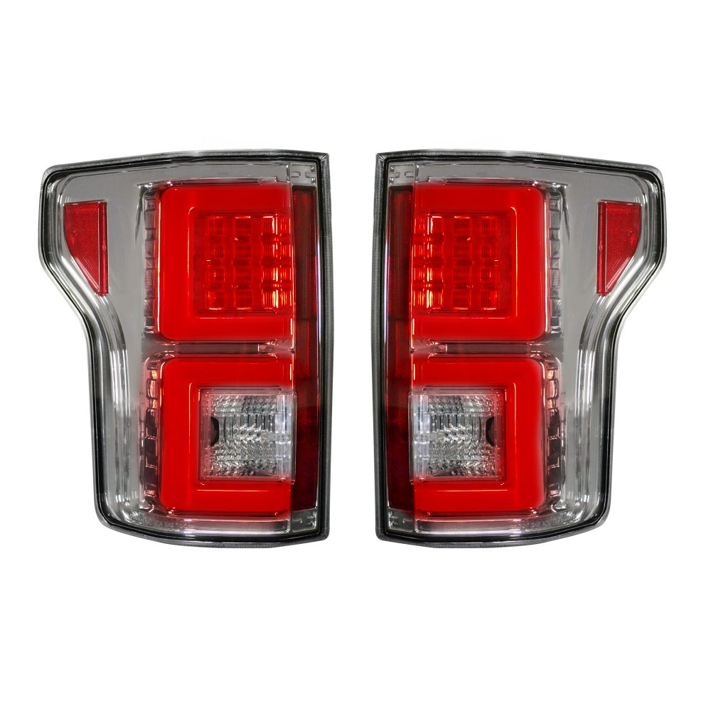 Ford F150 15-17 (Replaces OEM Halogen Style Tail Lights) LED TAIL LIGHTS - Clear Lens