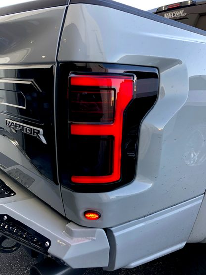 Ford F150 15-17 & Raptor 17-19 (Replaces OEM LED) Tail Lights OLED Dark Red Smoked