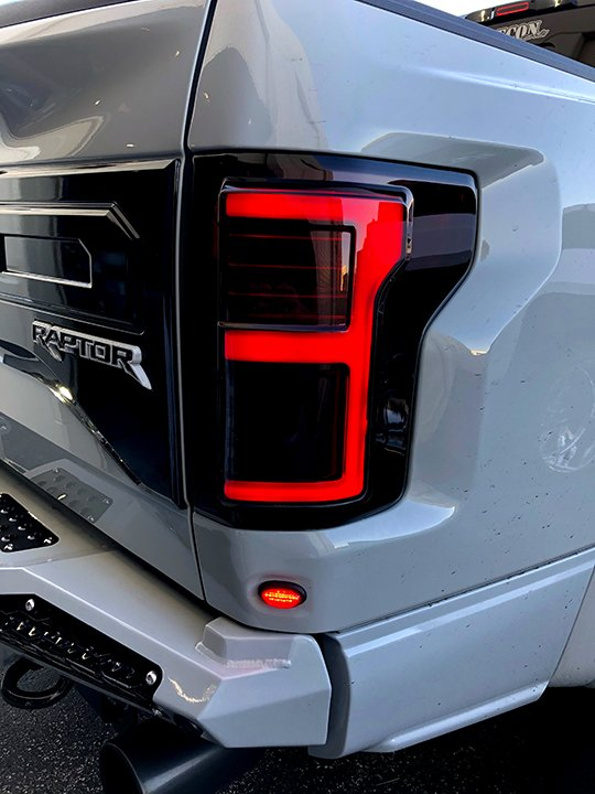 Smoked F150 Headlights >> Dark Red Smoked | OLED Tail Lights | Ford F150 15-17 & Raptor 17-18 | RECON Truck Accessories