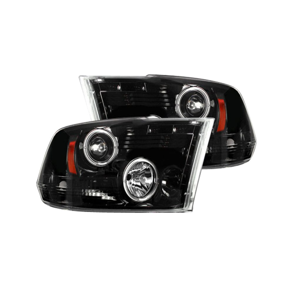 Dodge RAM 1500 09-19 & 2500/3500 10-18 Projector Headlights CCFL Halos & DRL Smoked/Black