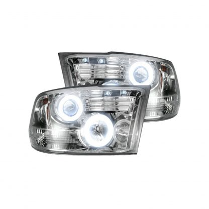 Dodge RAM 1500 09-19 & 2500/3500 10-18 Projector Headlights CCFL Halos & DRL Smoked/BlackDodge RAM 1500 09-19 & 2500/3500 10-18 Projector Headlights CCFL Halos & DRL Clear/Chrome