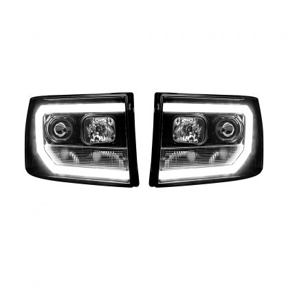 GMC Sierra 07-13 Projector Headlights OLED Halos & DRL Smoked/Black