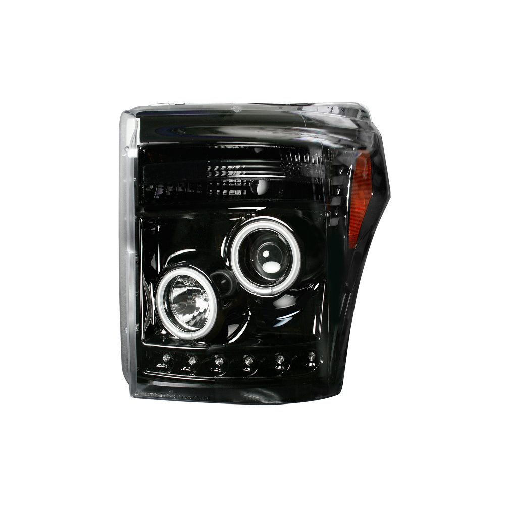 Ford Super Duty F250/350/450/550 11-16 Projector Headlights CCFL Halos/DRL Smoked/Black