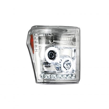 Ford Super Duty F250/350/450/550 11-16 Projector Headlights CCFL Halos & DRL Clear/Chrome