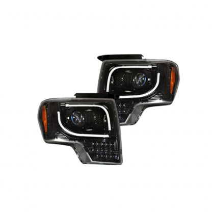 Ford F150 & Raptor 13-14 Projector Headlights LED Smoked/Black