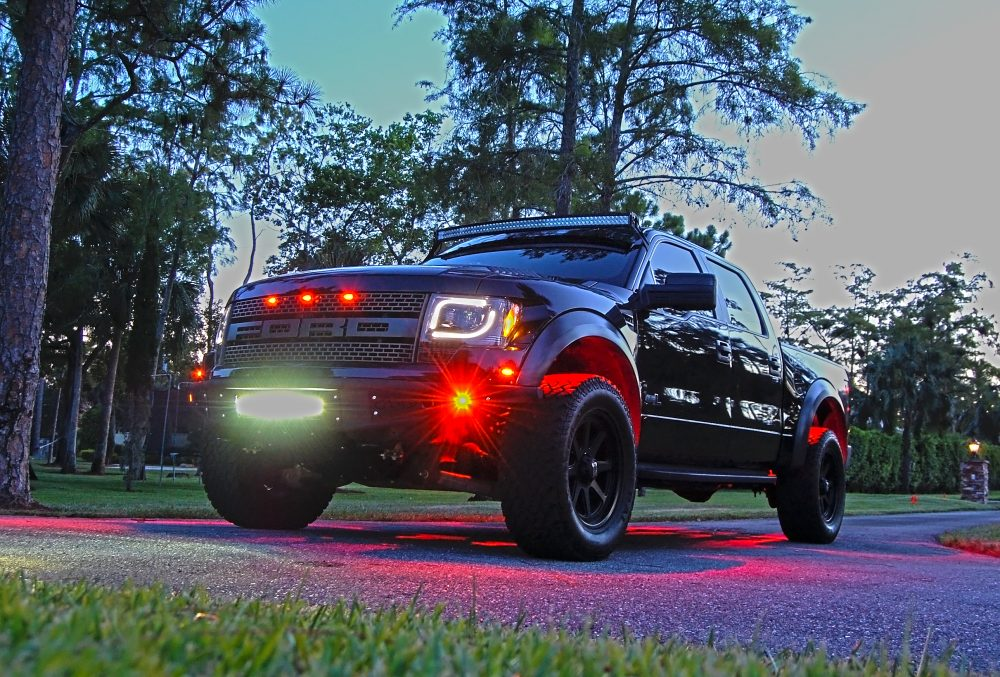Ford F150 & Raptor 13-14 Projector Headlights LED Turn Signals Clear/Chrome