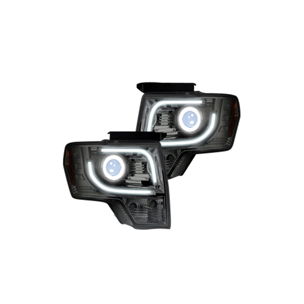 Ford F150 & Raptor 13-14 Projector Headlights in Clear/Chrome