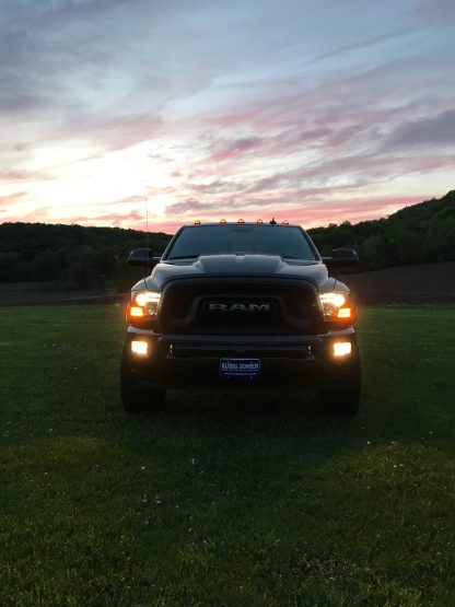 Dodge RAM 1500 14-19 & 2500/3500 15-18 Projector Headlights OLED DRL & LED Signals in Smoked/Black