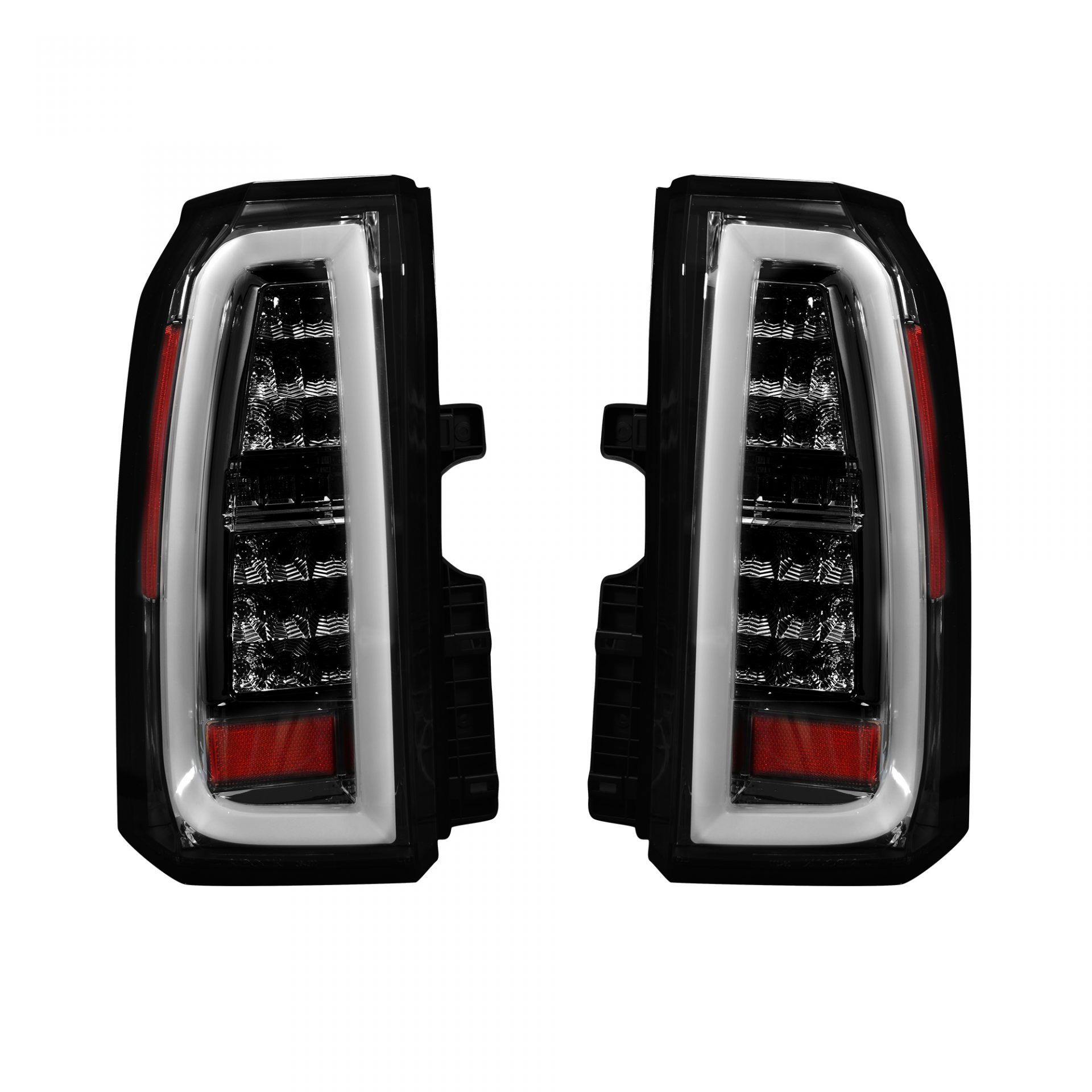 Recon 264277bk Chevy Tahoe Suburban 15 17 Oled Bar Style Led Tail Lights Smoked Lens