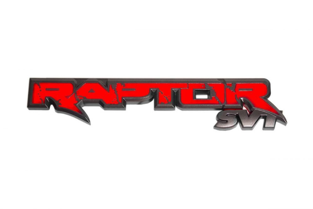 Ford SVT Raptor 09-14 Illuminated Emblem in Red Illumination