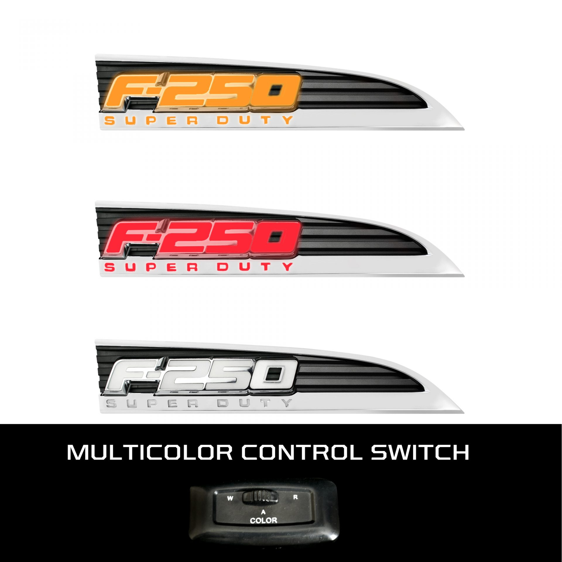 Ford F250 Illuminated Emblems - Truck & Car Parts - 264285CH   RECON ...