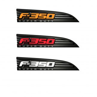 Ford F350 11-16 Illuminated Emblems Black Chrome in Amber, Red & White