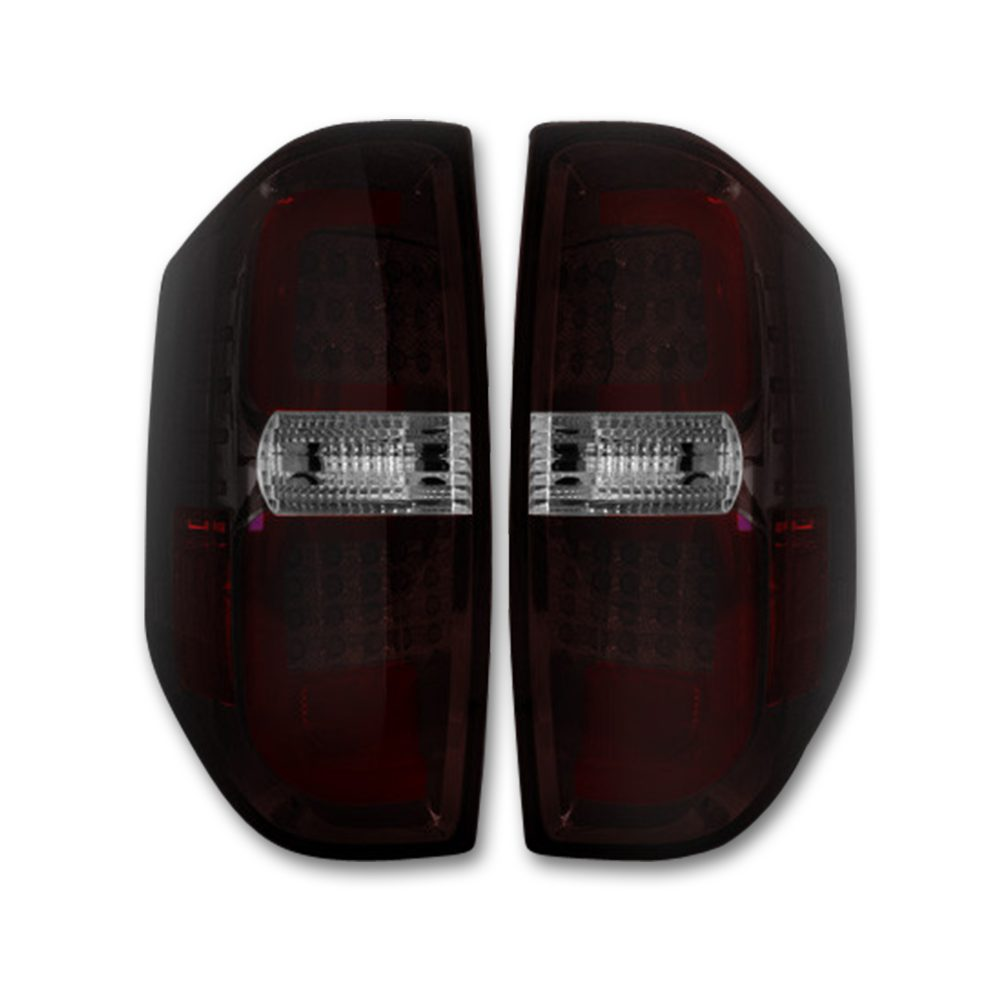 Toyota Tundra 14-19 LED Tail Lights in Dark Red Smoked
