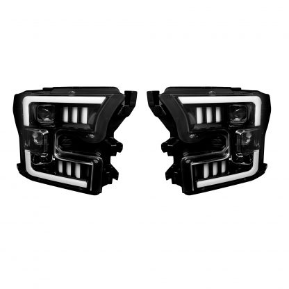 Ford F150 15-17 Projector Headlights in Smoked/Black
