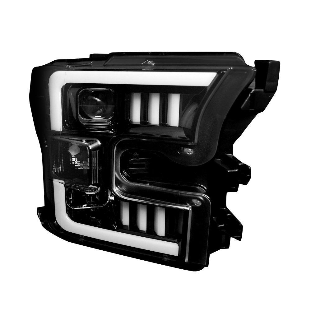 Ford F150 15-17 PROJECTOR HEADLIGHTS – Smoked / Black