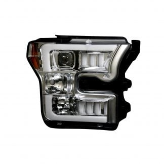 Ford F150 15-17 Projector Headlights in Clear/Chrome