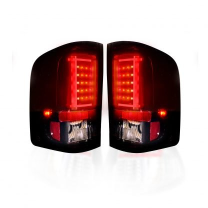 Chevy Silverado Single-Wheel 07-13 & Dually 07-14 & GMC Sierra 07-14 Tail Lights OLED Red Smoked