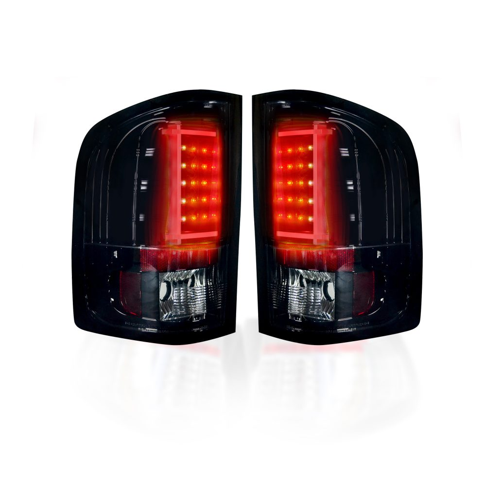 Chevy Silverado Single-Wheel 07-13 & Dually 07-14 & GMC Sierra 07-14 Tail Lights OLED in Red