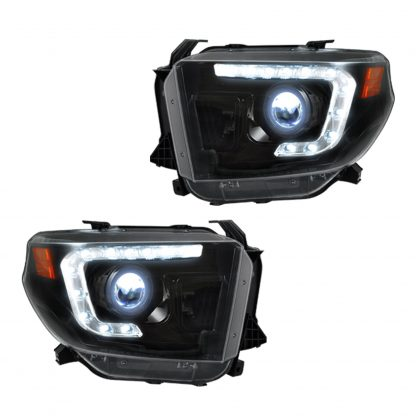 Toyota Tundra 14-19 Projector Headlights OLED DRL in Smoked/Black