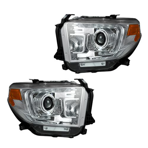 Tundra 14-19 Projector Headlights OLED DRL in Clear/Chrome