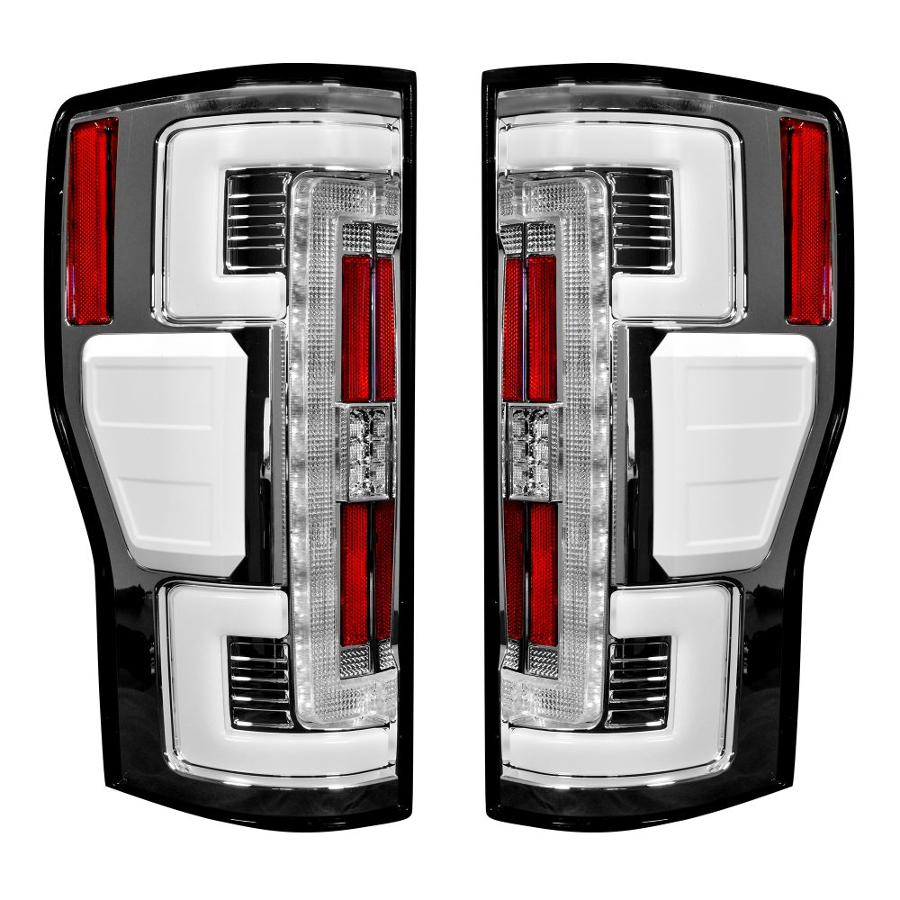 Ford Super Duty F250/350/450/550 17-19 Tail Lights OLED Clear