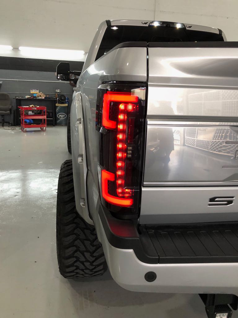 Ford Super Duty F250/350/450/550 17-19 (Replaces OEM LED) Tail Lights OLED in Clear
