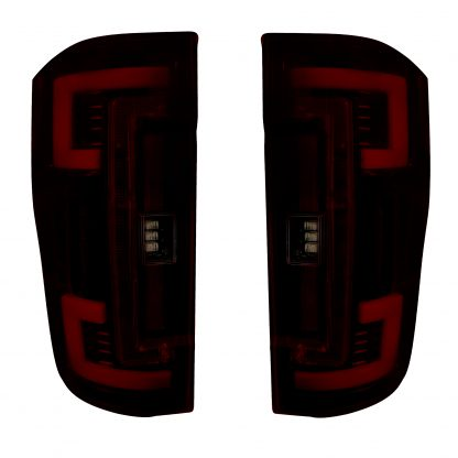 Ford Super Duty 17-19 Replaces OEM Halogen Tail Lights OLED Dark Red Smoked