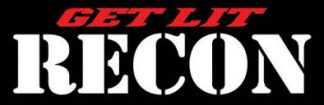 """RECON 264302WH 6"""" RECON Logo """"Get Lit"""" Adhesive Decal - WHITE"""