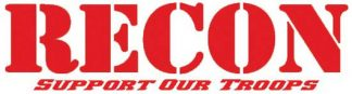 """RECON 264303DC 8"""" RECON Logo """"Support Our Troops"""" Adhesive Decal - DESERT CAMO"""
