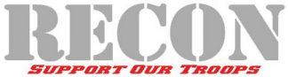 "RECON 264303DC 8"" RECON Logo ""Support Our Troops"" Adhesive Decal - DESERT CAMO"