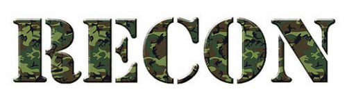 "RECON 264304GC 18"" RECON Logo Windshield Adhesive Decal - GREEN CAMO"