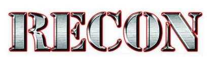 "RECON 264304SL 18"" RECON Logo Windshield Adhesive Decal - STEEL SILVER"
