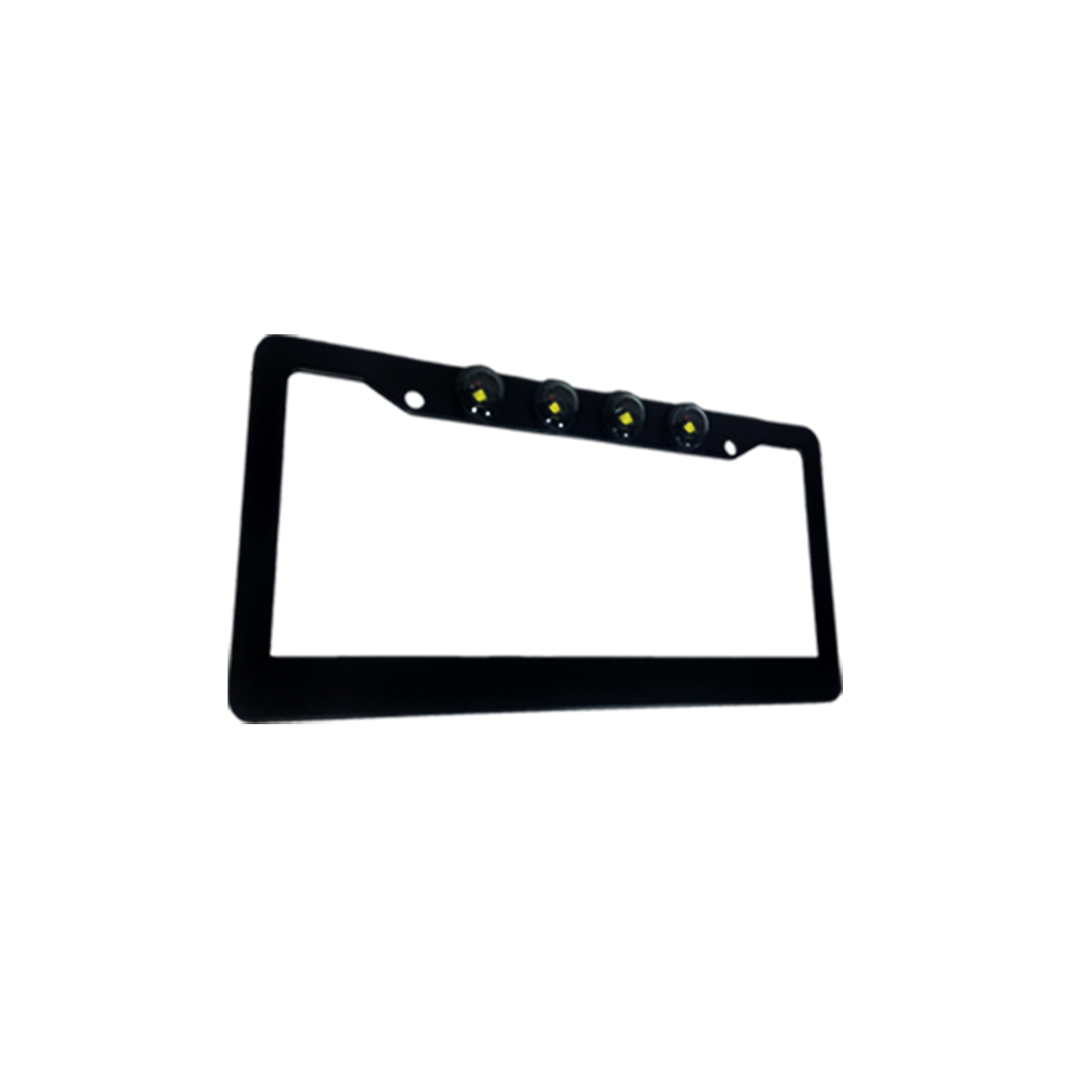 Black Aluminum License Plate Frame CREE LED