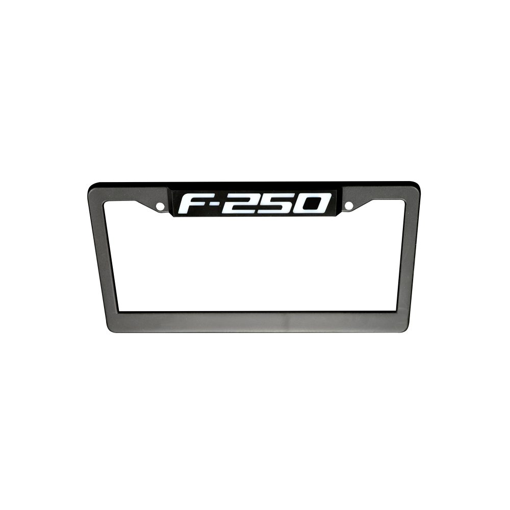 Ford F350 RED LED License Plate Frame in Black Billet Aluminum