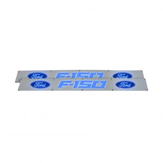 Ford F150 09-14 Illuminated Door Sill Brushed Finish Blue Illumination
