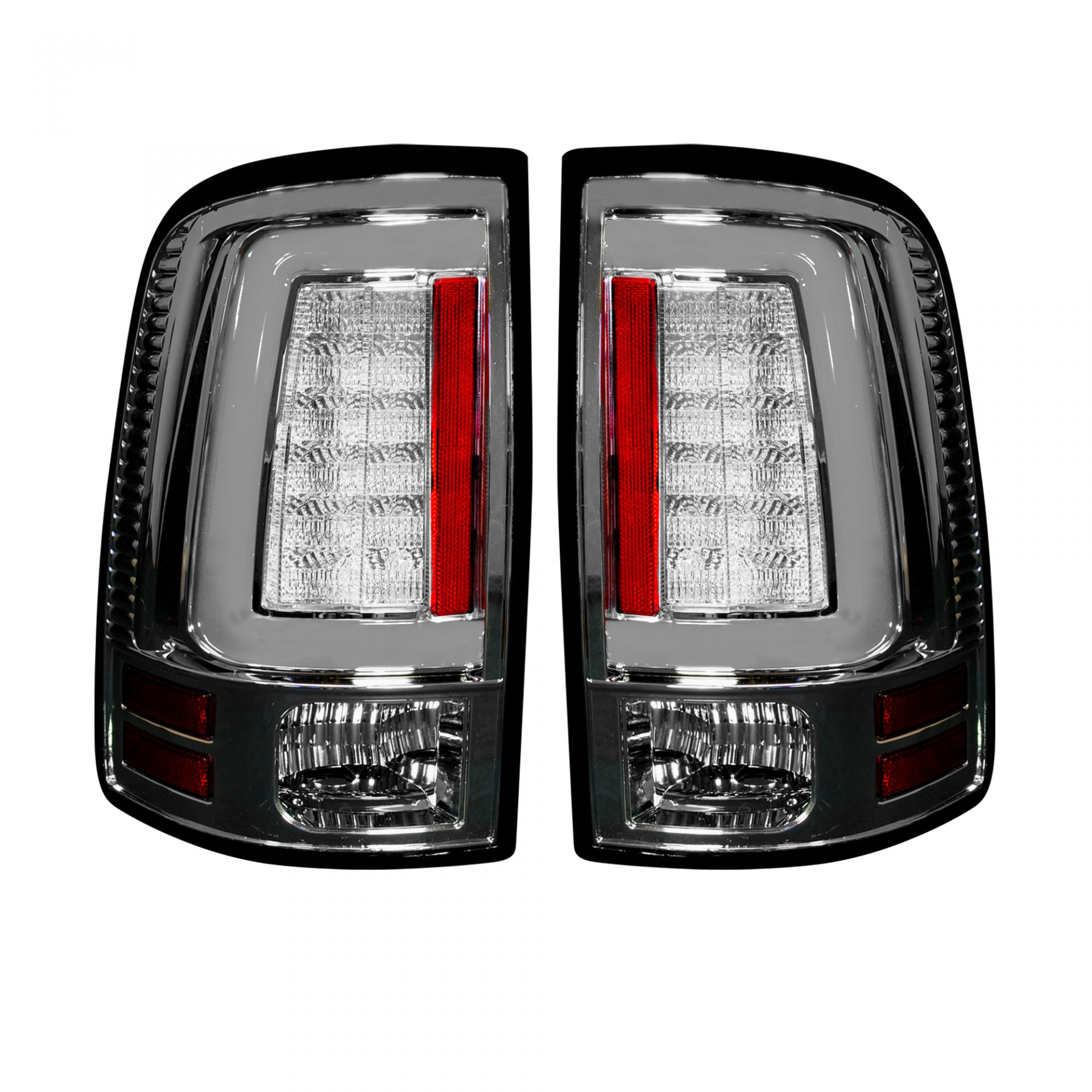 Recon 264336cl Dodge 13 17 Ram 1500 2500 3500 Oled Tail Lights Replaces Factory Oem Led Only Clear Lens