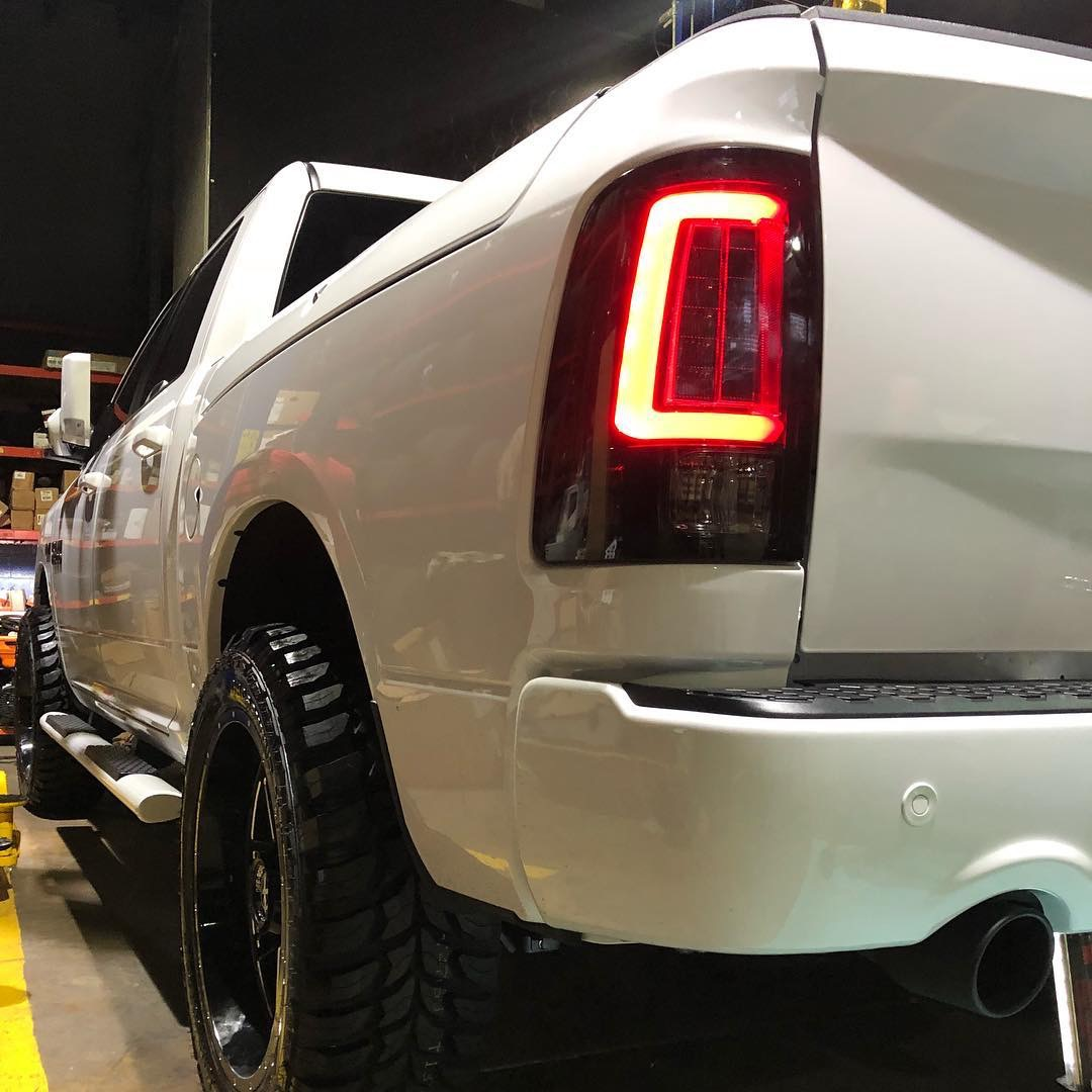 ram tail lights 1500 smoked recon dodge led oled factory oem 2500 only lens replaces halogen truck taillights market