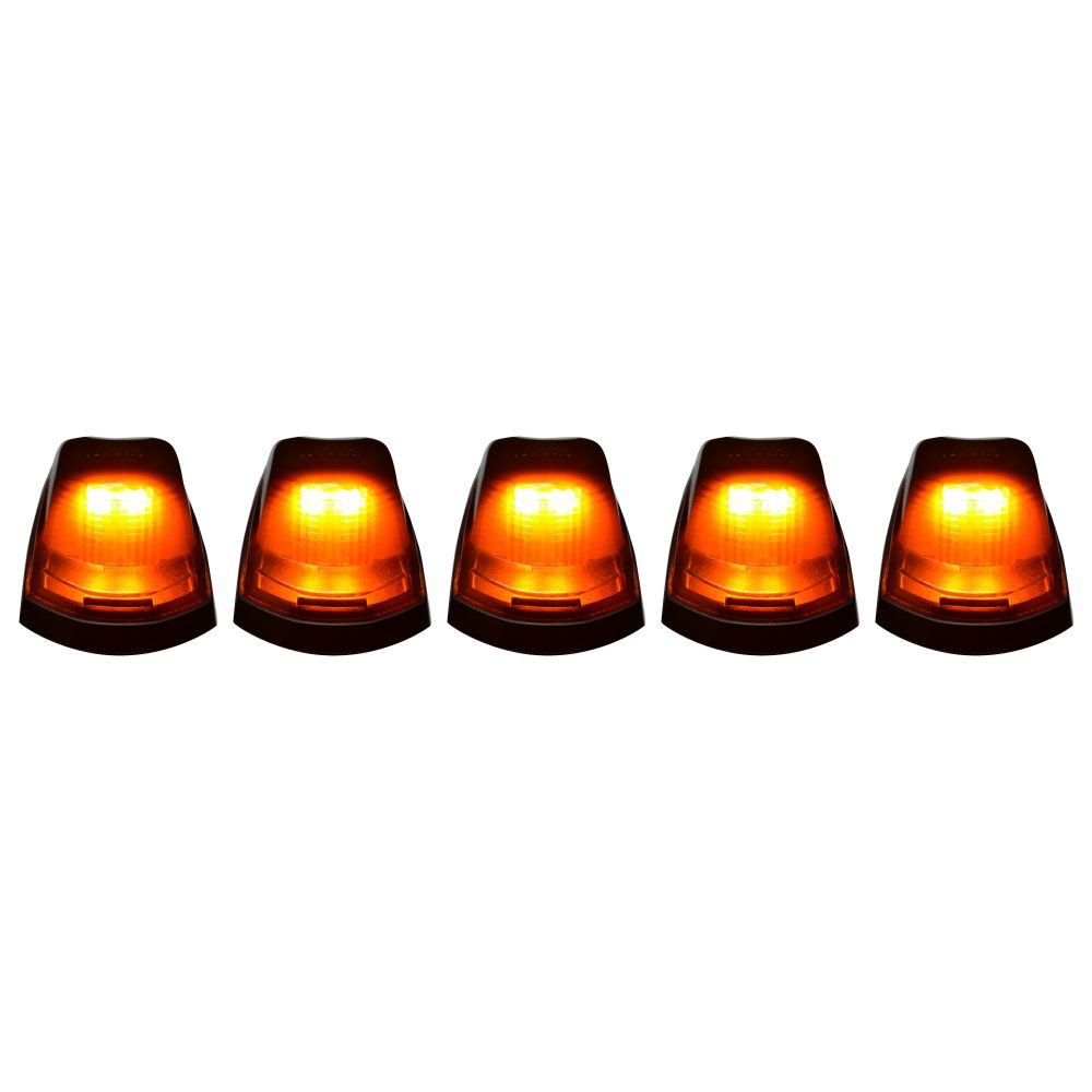 Ford Super Duty 17-19 5 Piece Cab Lights LED Smoked Lens in Amber