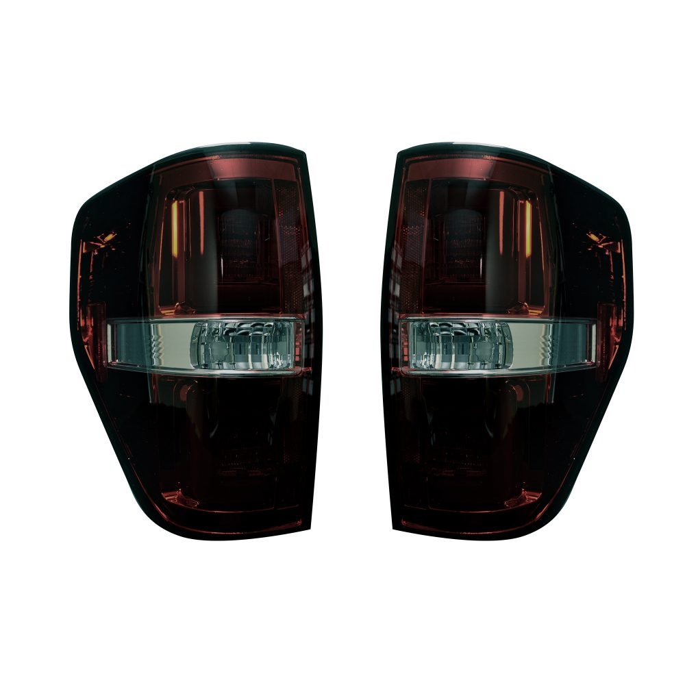 Ford F150 & Raptor 09-14 Tail Lights OLED in Dark Red Smoked