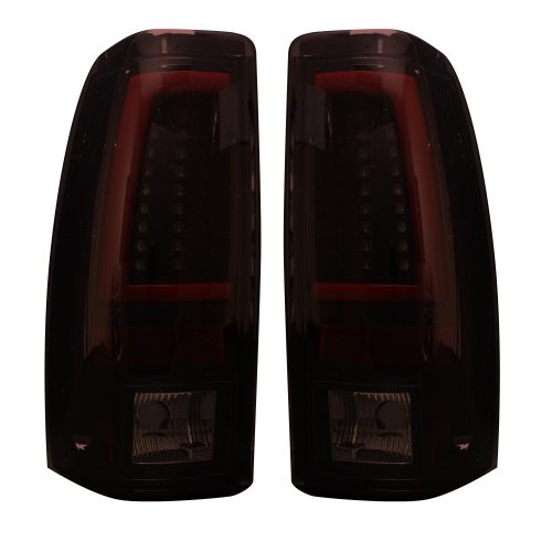 Chevy Silverado & GMC Sierra 99-07 Tail Lights OLED in Dark Red Smoked