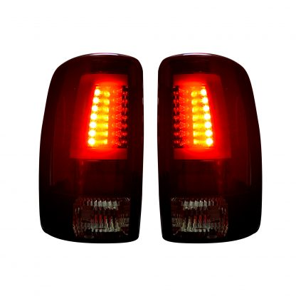 Chevy & GMC Tahoe, Yukon, Suburban, Denali 00-06 OLED TAIL LIGHTS - Dark Red Smoked Lens