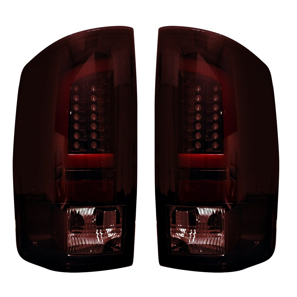 Dodge RAM 1500 02-06 & 2500/3500 03-06 OLED Tail Lights - Dark Red Smoked Lens