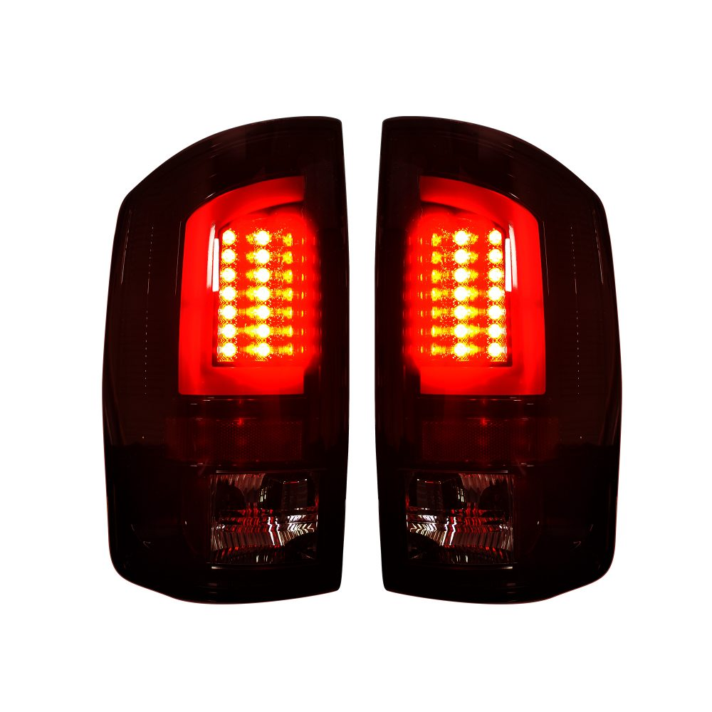 Dodge 07-08 RAM 1500 &; 07-09 RAM 2500/3500 OLED TAIL LIGHTS Dark Red Smoked