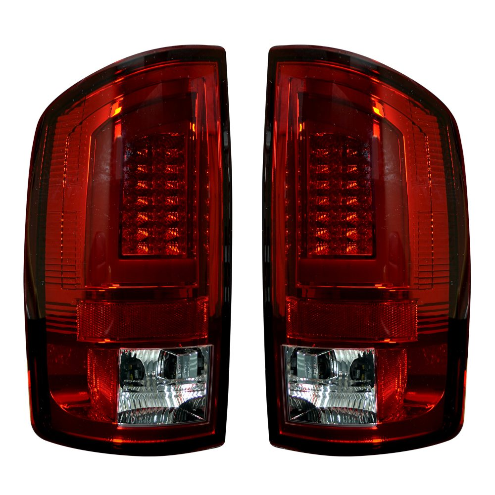 Dodge 07-08 RAM 1500 & 07-09 RAM 2500/3500 OLED TAIL LIGHTS - Red Lens